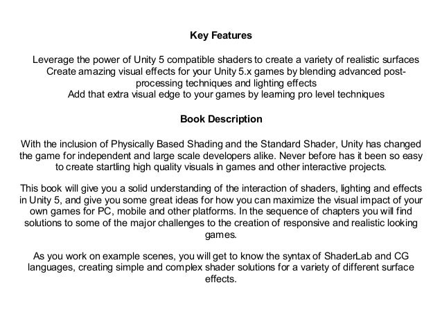 Download] Mastering Unity Shaders and Effects