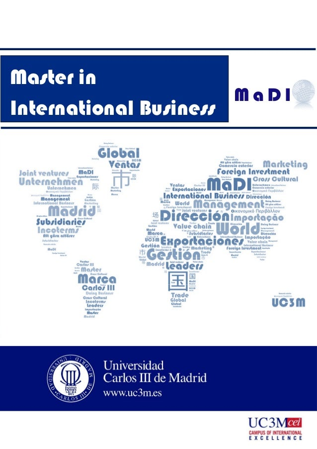 International Business Degree >> Master S Degree In International Business Carlos Iii