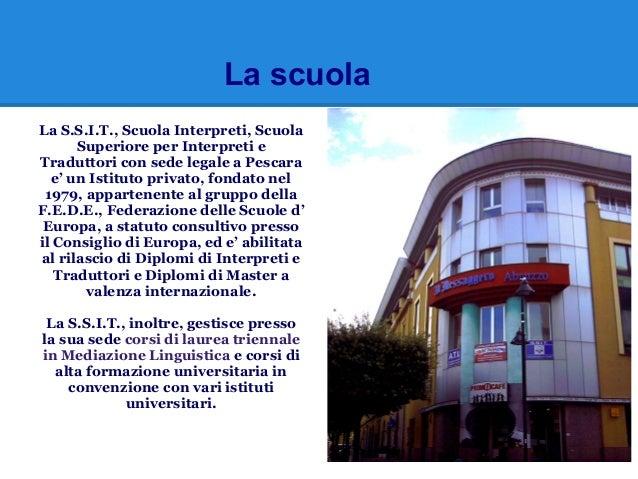 Il  Master in traduzione settoriale on line della S.S.I.T. di Pescara Slide 2