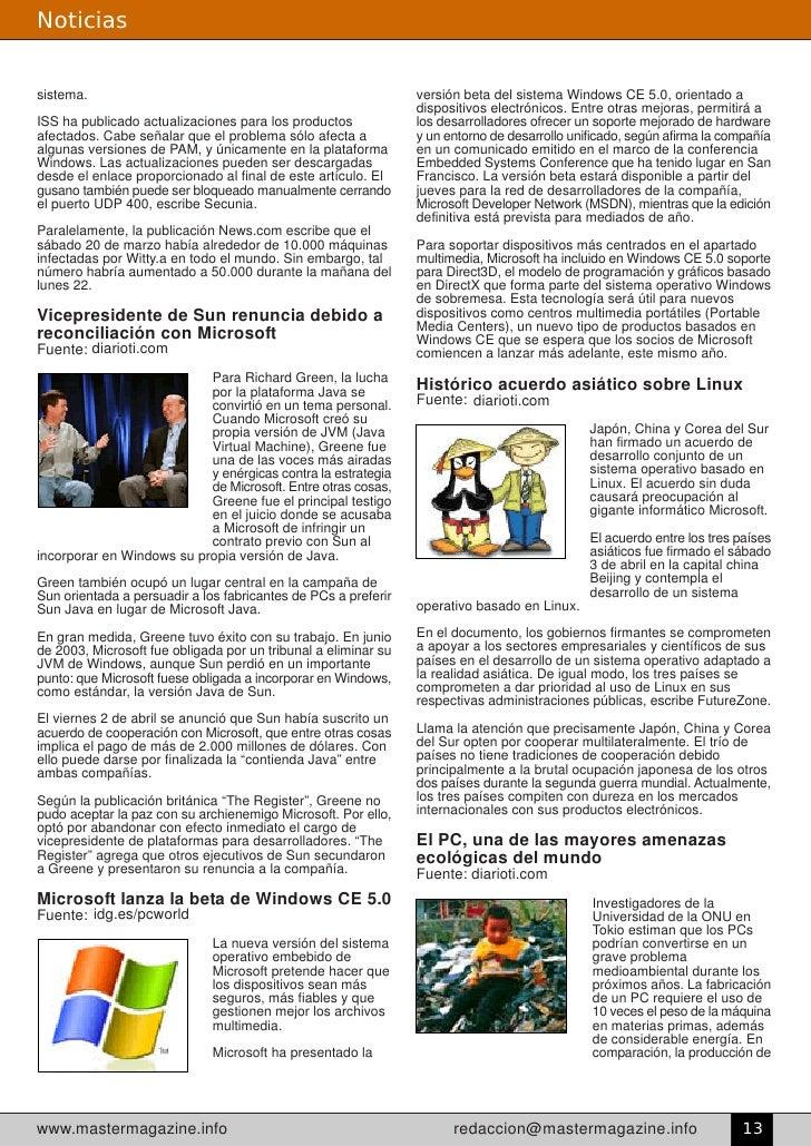 Noticias   sistema.                                                        versión beta del sistema Windows CE 5.0, orient...