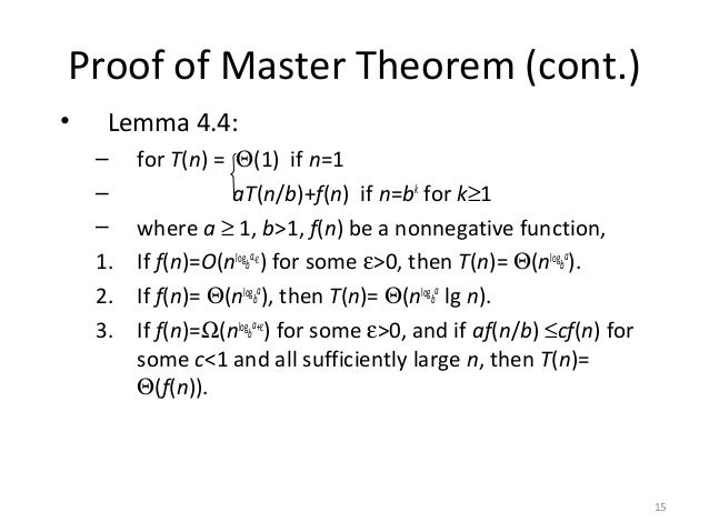Master Method Theorem