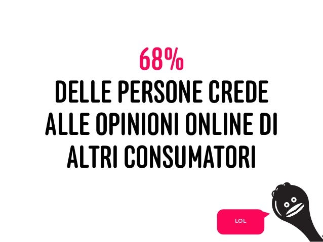 68% DELLE PERSONE CREDE ALLE OPINIONI ONLINE DI ALTRI CONSUMATORI 23 LOL