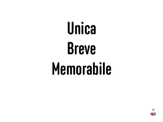 Unica Breve Memorabile 54