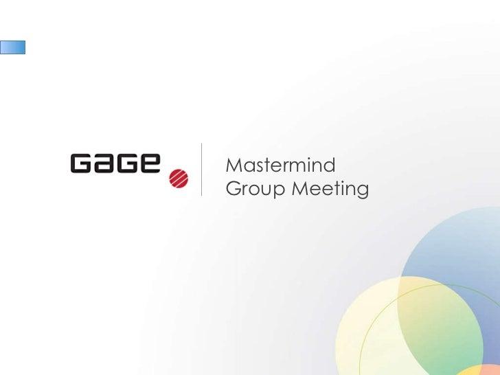 Mastermind  Group Meeting