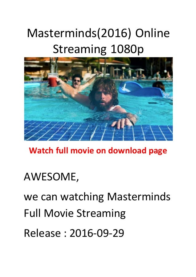 Masterminds(2016) best action and comedy movies