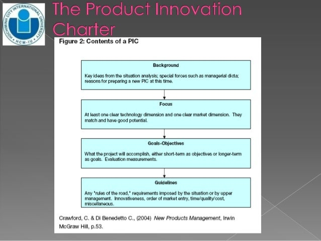 product innovation charter The journal of product innovation management is an interdisciplinary, international journal that seeks to advance our theoretical and managerial knowledge of product.