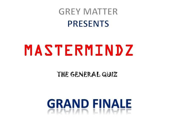 THE GENERAL QUIZ