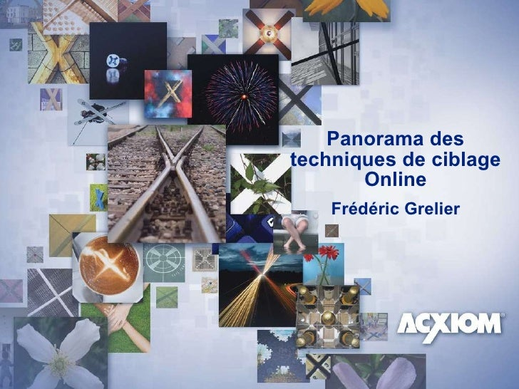 Panorama des techniques de ciblage Online Frédéric Grelier