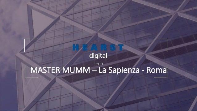 P E R MASTER MUMM – La Sapienza - Roma