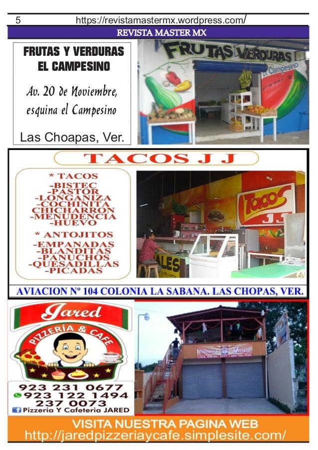 REVISTA MASTER MX 5 http://jaredpizzeriaycafe.simplesite.com/ VISITA NUESTRA PAGINA WEB https://revistamastermx.wordpress....