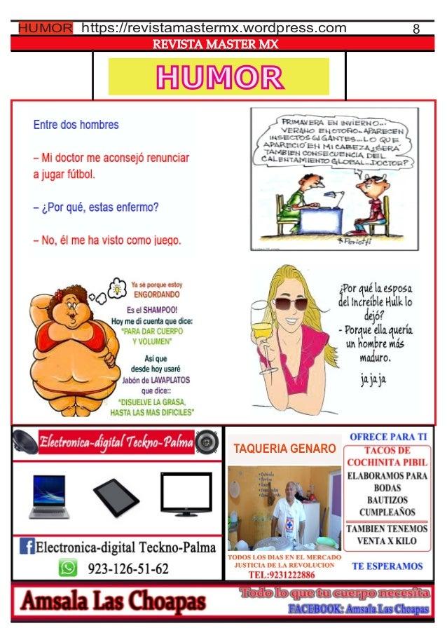 HUMOR REVISTA MASTER MX 8https://revistamastermx.wordpress.comHUMOR