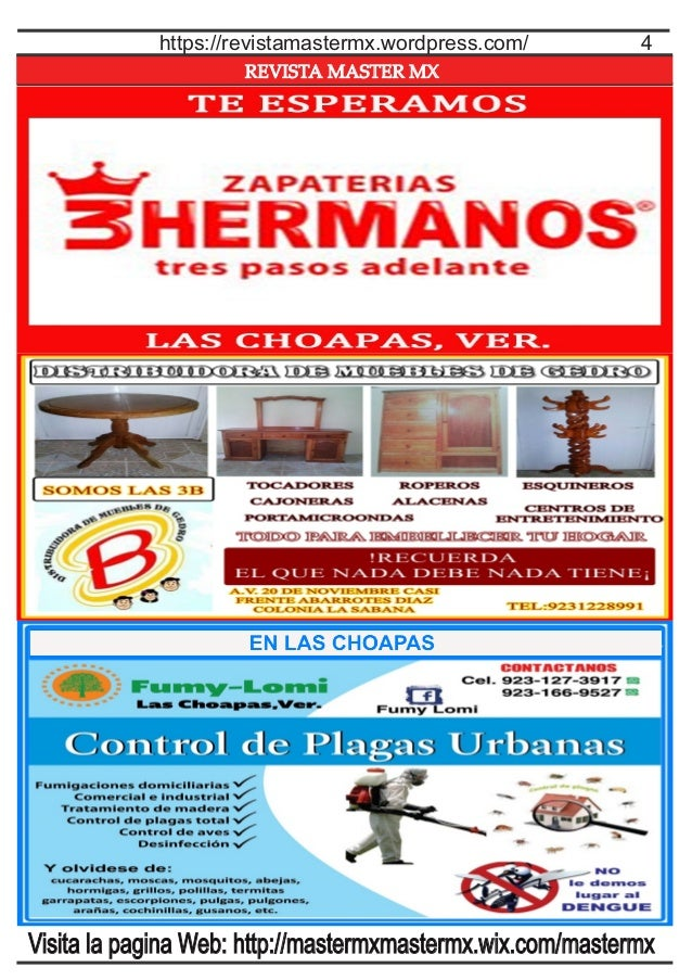 REVISTA MASTER MX 4https://revistamastermx.wordpress.com/ Visita la pagina Web: http://mastermxmastermx.wix.com/mastermx