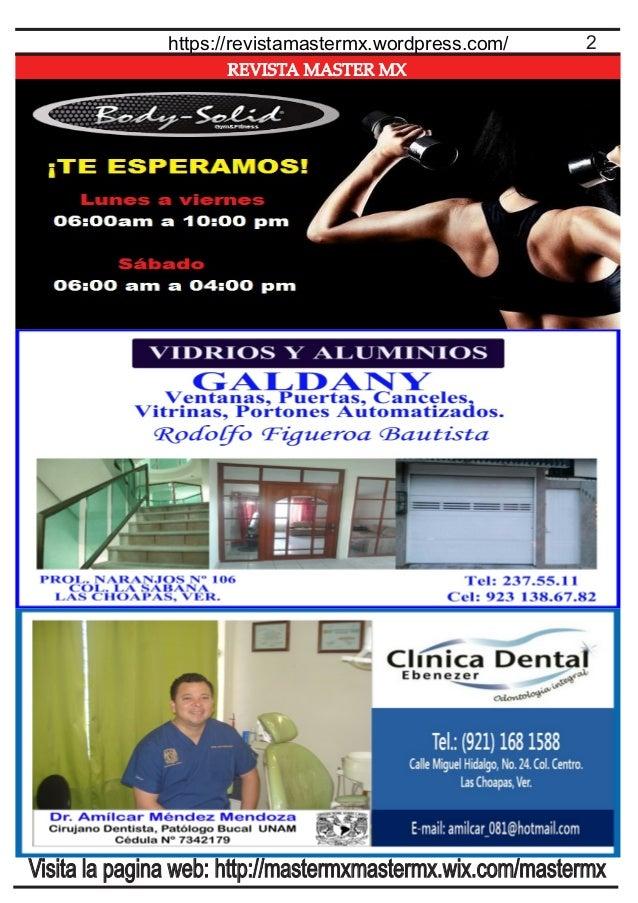REVISTA MASTER MX 2https://revistamastermx.wordpress.com/ Visita la pagina web: http://mastermxmastermx.wix.com/mastermx