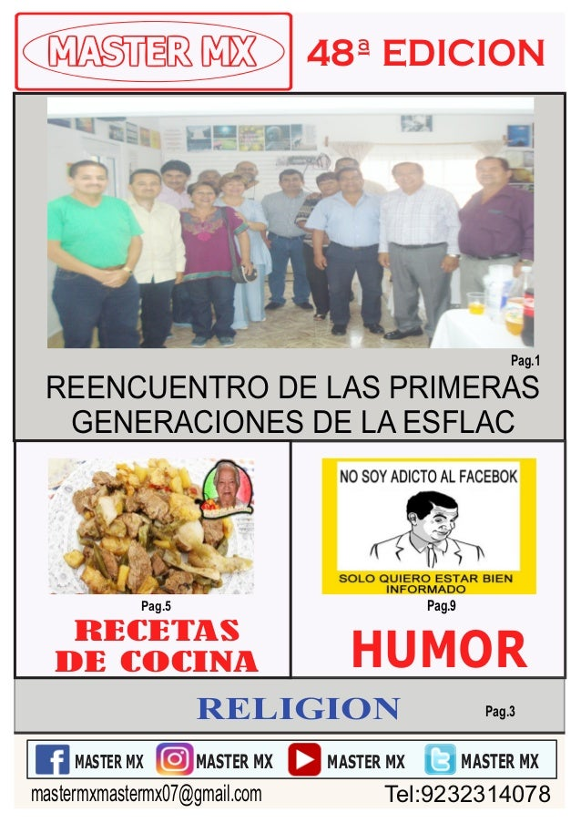 RECETAS DE COCINA HUMOR Pag.5 Pag.9 MASTER MX MASTER MX MASTER MX MASTER MX Pag.3 mastermxmastermx07@gmail.com Tel:9232314...