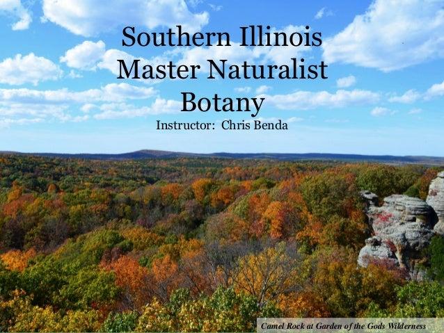Southern Illinois Master Naturalist Botany Instructor: Chris Benda Camel Rock at Garden of the Gods Wilderness