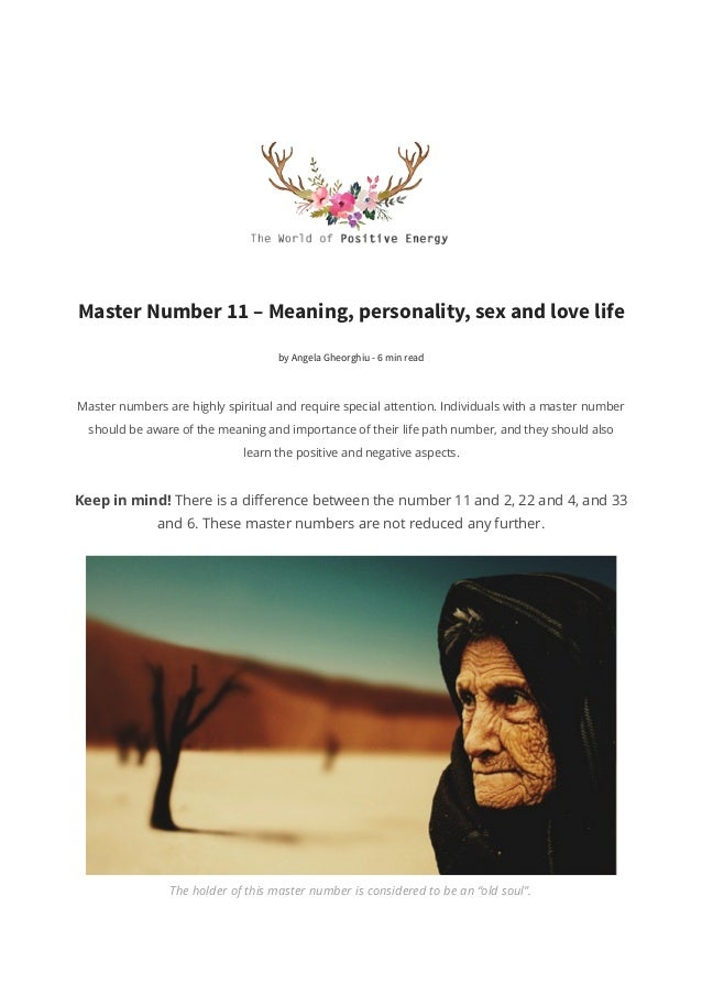 Master Number 11 – Meaning, personality, sex life