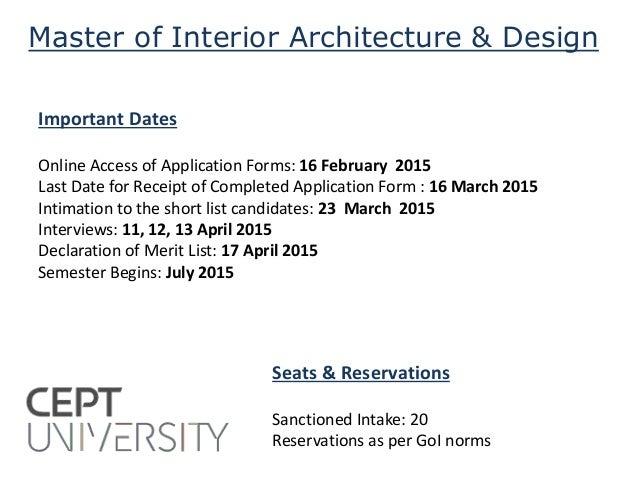 Master of interior architecture design admission 2015 - Interior design degree online program ...