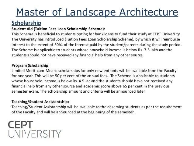 Master of landscape architecture admission 2015
