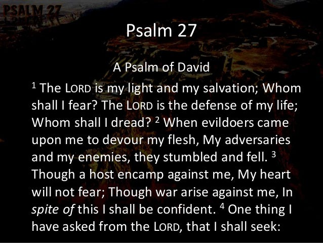 Master of the Stronghold Psalm 27