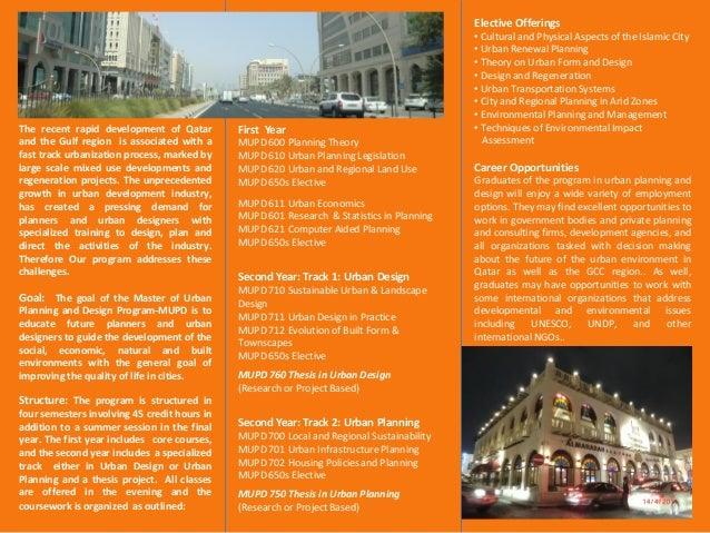 Master of urban planning and design qatar university - What is urban planning and design ...