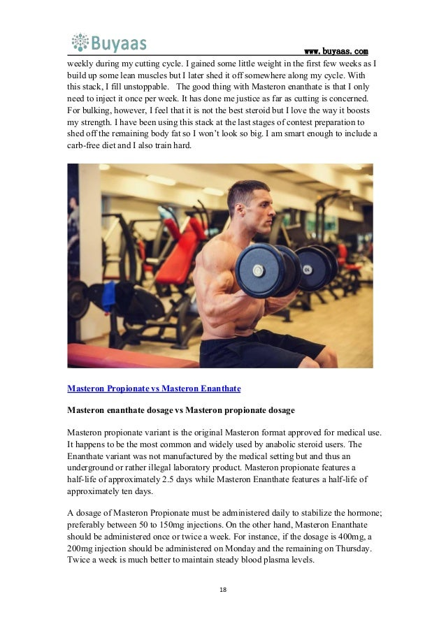 Masteron propionate or masteron enanthate which one is better for you