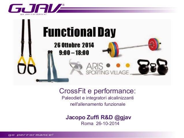 CrossFit e performance:  Paleodiet e integratori alcalinizzanti  nell'allenamento funzionale  Jacopo Zuffi R&D @gjav  Roma...