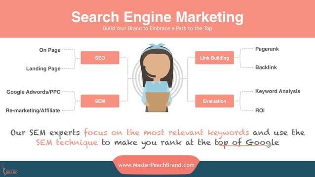 www.MasterPeachBrand.com Parietal Lobe SEO SEM Link Building Evaluation Pagerank Backlink Keyword Analysis ROIRe-marketing...