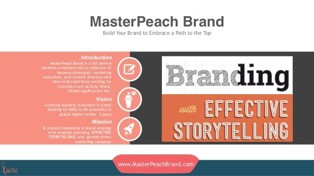 MasterPeach Brand Build Your Brand to Embrace a Path to the Top Introduction MasterPeach Brand is a full service business ...
