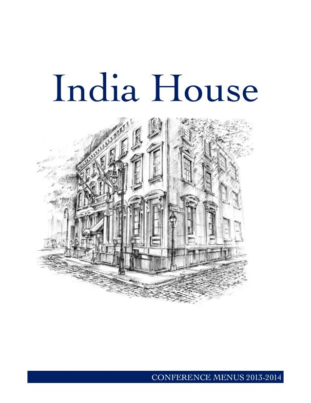India House CONFERENCE MENUS 2013-2014