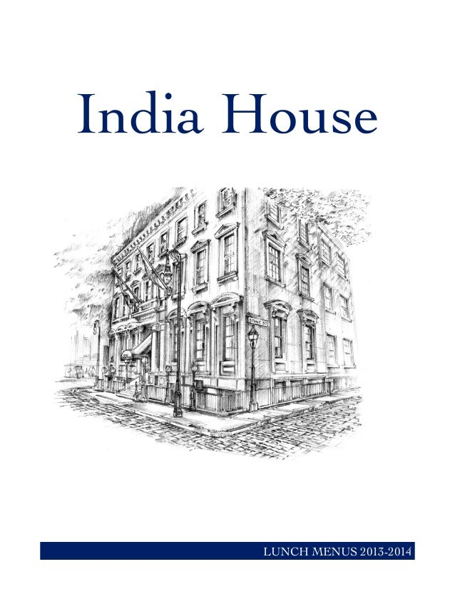 India House LUNCH MENUS 2013-2014