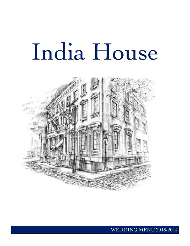 India House WEDDING MENU 2013-2014