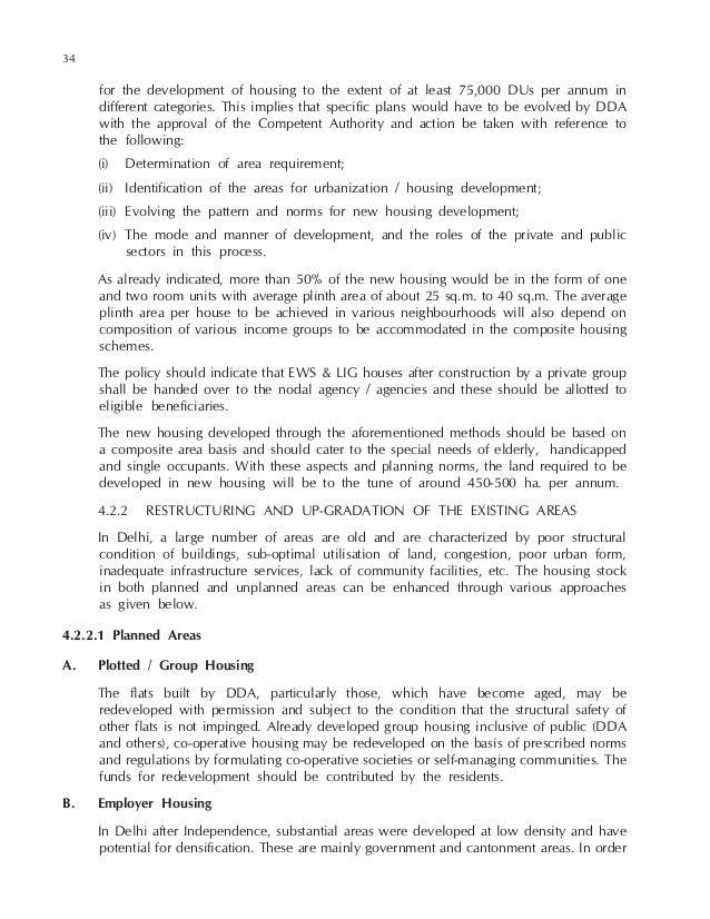 Master Plan 2021 For Delhi
