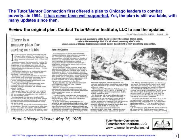 Master plan for saving Chicago youth - 1998 version Slide 2