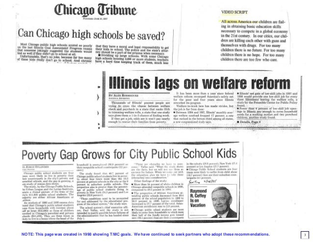 Master plan for saving Chicago youth - 1998 version Slide 3