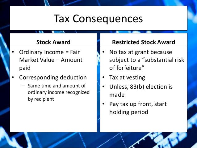 Equity compensation for startups tax consequences 14 tax consequences stock award platinumwayz