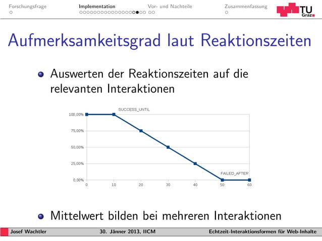 Forschungsfrage        Implementation           Vor- und Nachteile         ZusammenfassungAufmerksamkeitsgrad laut Reaktio...