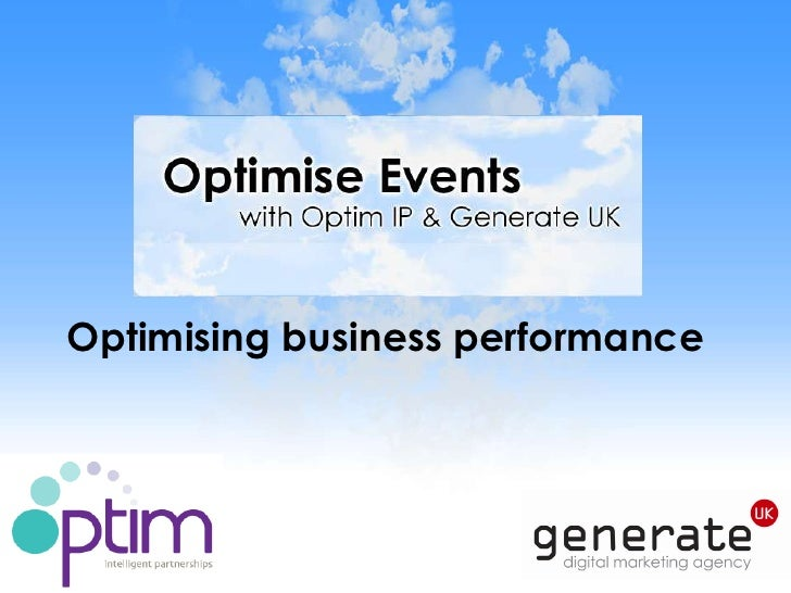 Optimising business performance<br />