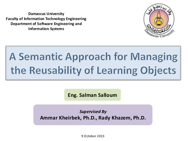 Damascus University Faculty of Information Technology Engineering Department of Software Engineering and Information Syste...