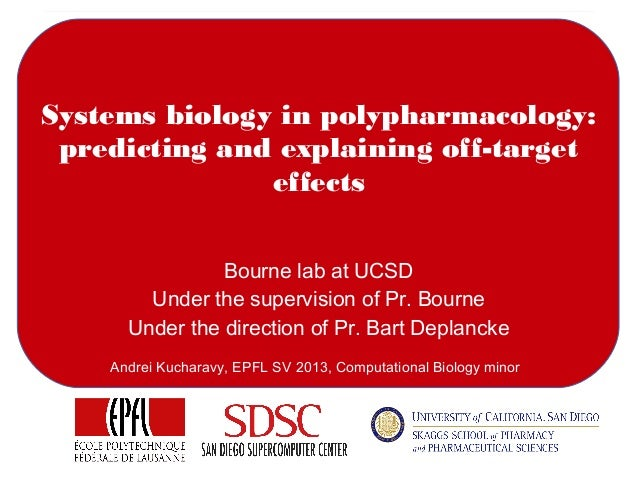 Systems biology in polypharmacology: predicting and explaining off-target effects Bourne lab at UCSD Under the supervision...