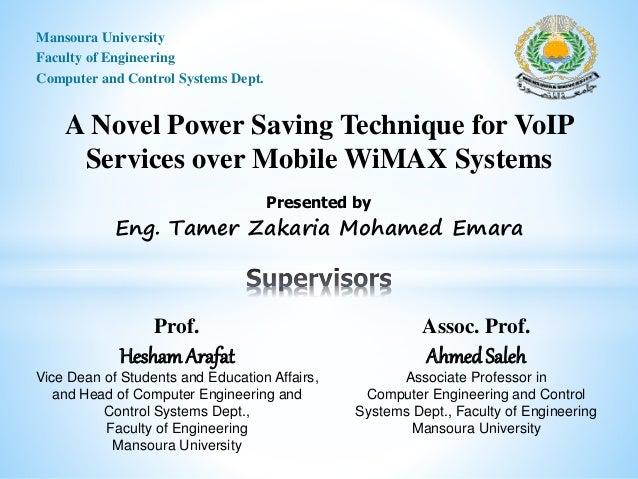 Master thesis voip