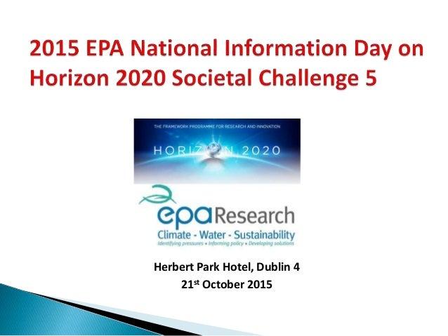 Herbert Park Hotel, Dublin 4 21st October 2015