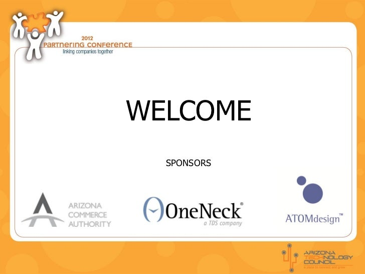 WELCOME  SPONSORS