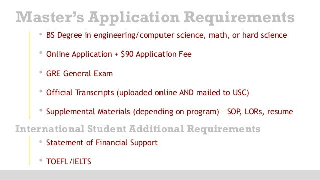Usc computer science masters thesis