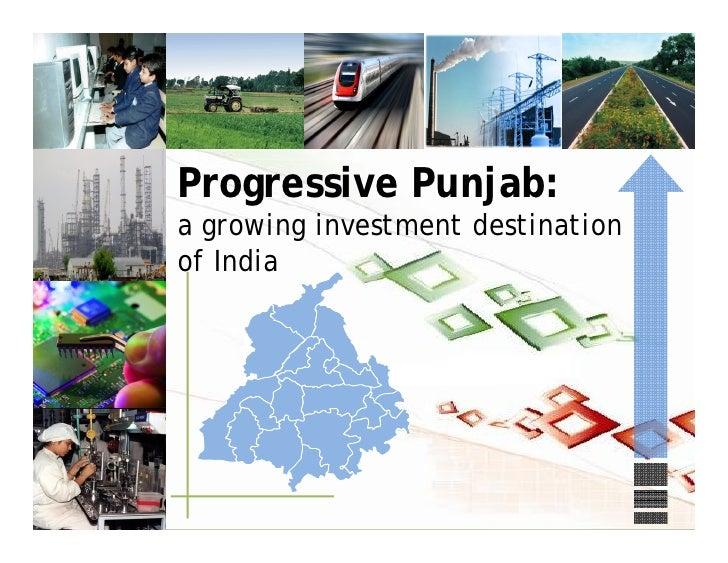 Progressive Punjab:a growing investment destinationof India