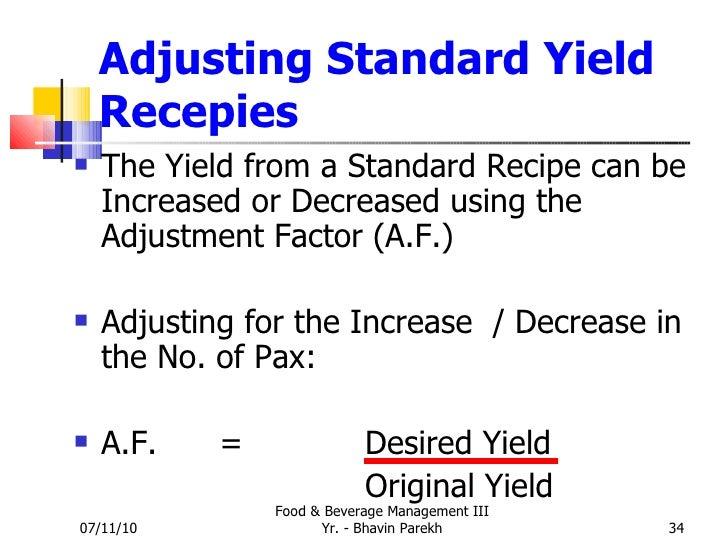standardized recipe template