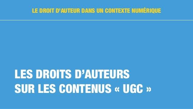 Les «user generated contents» sont les contenus déposés sur les réseaux sociaux et plateformes d'hébergement de contenus...