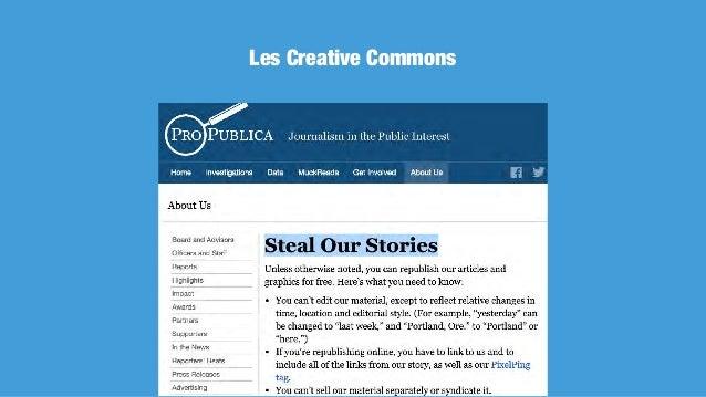 Les Creative Commons, quatre licences à combiner Attribution Pas d'utilisation commerciale Pas de modifications Partage dan...