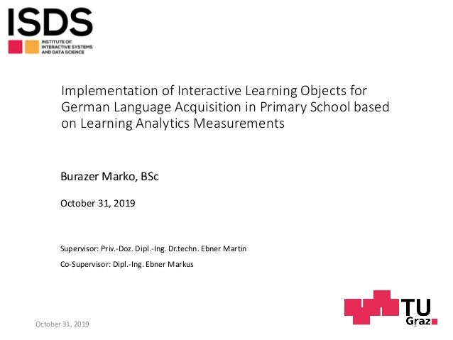 Implementation of Interactive Learning Objects for German Language Acquisition in Primary School based on Learning Analyti...