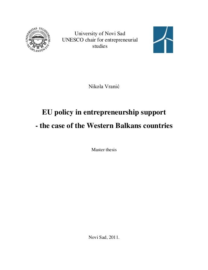 University of Novi Sad        UNESCO chair for entrepreneurial                   studies                   Nikola Vranić  ...