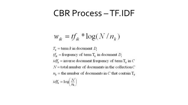 CBR Process –TF.IDF